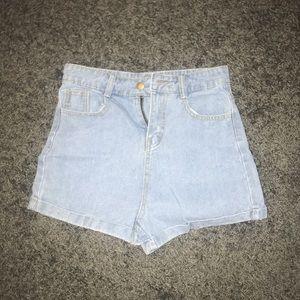 Pants - Jean High Waist Shorts